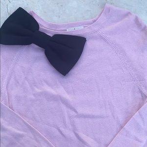 Kate Spade Girls 14 Years Pink Black Bow Dress